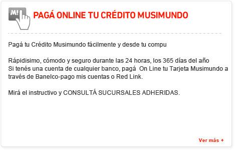 Pagá online tu crédito Musimundo
